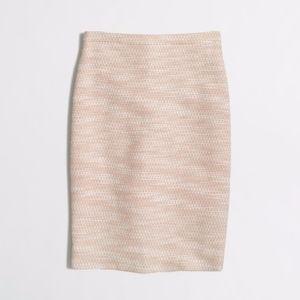 J Crew Factory Pencil Skirt Tweed Metallic Woven